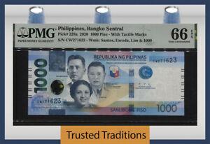 TT PK 228a 2020 PHILIPPINES BANGKO SENTRAL 1000 PISO PMG 66 EPQ GEM UNCIRCULATED