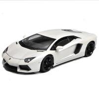 Welly 1:18 Lamborghini Aventador LP700-4 Racing Diecast Model Car White IN BOX
