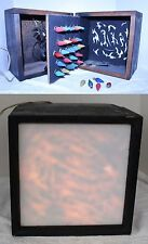 Vintage Folk Art Hand Made Christmas Light Box ~ Mazda C6 Bulbs