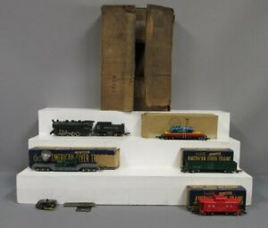 American Flyer 5009 Vintage S Nickel Plate Electronic Switcher Freight Set, 342