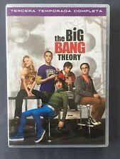 3 DVD THE BIG BANG THEORY Tercera temporada completa Johnny Galecki Jim Parson K