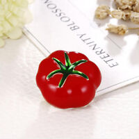 Vegetables Tomato Brooch Pin Ornament Scarf Buckle Pin for Women Jewelry Gift YI