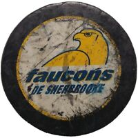 SHERBROOKE FAUCONS QMJHL OFFICIAL HOCKEY PUCK INGLASCO MFG. MADE IN CANADA 🇨🇦