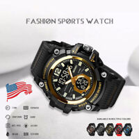 Men's Military Tactical LED Digital Analog Sport Date Quartz Shock Wrist Watch