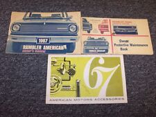 1967 Rambler American Original Owner Owner's Operator User Guide Manual Set
