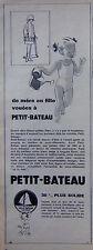 PUBLICITÉ PRESSE 1952 SOUS-VÊTEMENT PETIT-BATEAU DE MÈRE EN FILLE - ADVERTISING