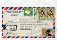 TRENGGANU - MALAYSIA: 1977 Registered Air Mail cover to London (C50492)
