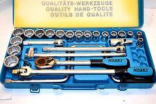 """NOS HAZET GERMANY 26 Pc 1/2"""" Dr. Ratchet & 12 POINT Socket SET #905AZ"""