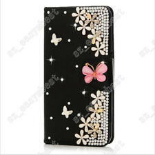 Hot Bling Diamond Jewelled Leather Flip Wallet Case Cover for Samsung/iPhone
