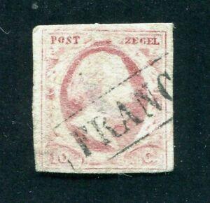 Nederland, frankeer nvph 2, gebruikt ;
