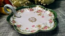 Vintage Imperial Crown China Austria - Scalloped Candy Dish  - Floral design