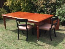 Dining Table - 'Charles Barr' American Cherry Wood with Mahogany Curl Banding