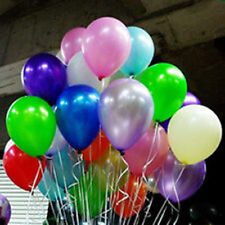 New 50Pcs Colorful Pearl Latex Balloons Celebration Party Wedding Birthday 10""