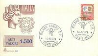 Repubblica, FDC Capitolium - 1500 lire Alti valori Siracusana, 14/05/1979