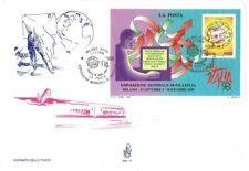 """Italia FDC Venetia 1998 - Foglietto """"La Posta"""" - A/S Milano Fiera - N.V."""