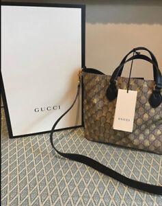 Authentic Gucci GG Supreme Bee Tote