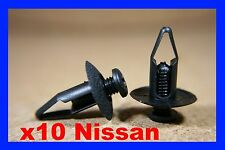 10 Nissan Parachoques Fascia Panel Forro de tarjeta de puerta de Fender Recortar Clips Sujetador