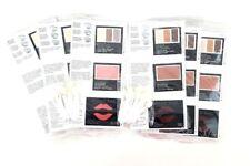 MARY KAY Color Cards Samples Cheek Lips Eyes 2 Shades 18 Cards ea. Applicators