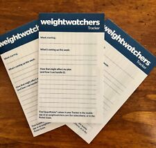 Weight Watchers Smart Points Weekly Paper Tracker Freestyle Food & Fit Points