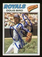 Doug Bird #556 signed autograph auto 1977 Topps Baseball Trading Card