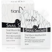 TianDe Snail Extract Face Cream Anti Ageing Moisturizing Repairing Cream 5x10ml
