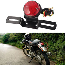MOTORCYCLE CAFE RACER CUSTOM ROUND BRAKE LICENSE PLATE STOP RUNNING TAIL LIGHTS