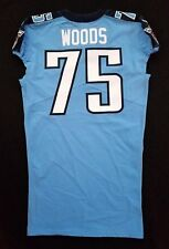 #75 Antwaun Woods Authentic Nike Tennessee Titans Game Issued Jersey