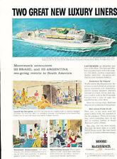 1958 SS Brasil Moore McCormack  Vintage Advertisement Print Ad J467