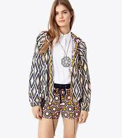 "NWT! Womens TORY BURCH ""DEVON"" RUNWAY Packable Hooded Windbreaker Jacket 10 $325"