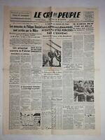 N1188 La Une Du Journal Le cri du peuple 21 juillet 1944 les lignes allemandes