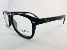 New Authentic Ray Ban Eyeglasses RB 5228 2000 shiny black 53-17-140 NWT & case