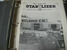 Vintage Lincoln Stabilizer Newsletter Lincoln Weldors Welders 1964 1974