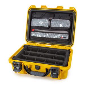 Nanuk 920 Waterproof Mobile Camera Case w/Lid Organizer & Padded Divider, Yellow