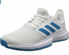 Adidas Cg6367 Women's Sz 9.5 Game Court Tennis Shoes White/Blue Sneakers