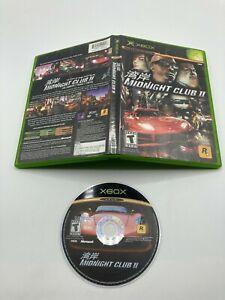 Microsoft Xbox Disc Case No Manual Tested Midnight Club II 2 Ships Fast