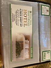 Aloe Vera Bamboo Bed Sheet 6 PIECE SET Queen Size Deep Pockets Wrinkle Free Gray