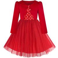 Sunny Fashion Robe Fille Fleur Rouge Manche Longue Haussement D'épaules Boléro