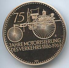 M694 Tolle Silbermedaille 1961 Daimler Benz 75 Jahre Motorisierung des Verkehrs