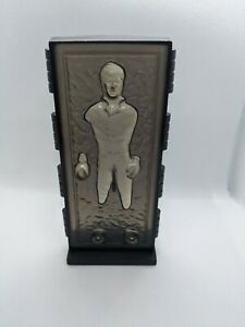 Vintage Star Wars last 17 custom replica - ROTJ Han Solo in carbonite with stand