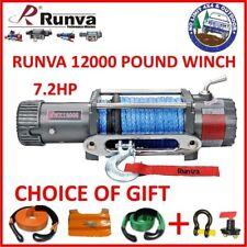 RUNVA 12000 LB POUND 7.2HP WINCH DYNEEMA ROPE ELECTRIC WARN 4x4 4WD EWX1200 COMP