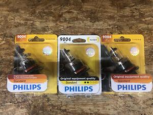 (3) NEW PHILIPS STANDARD 9004 HEADLIGHT BULBS 9004B1 12V 65/45WHEADLAMP BULB