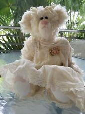 """Alice,18"""" Mohair jointed artist teddy bear by Diana Roe Julet."""