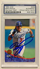 Dodgers Mike Piazza Authentic Signed Card 199 Leaf #436 PSA Slabbed