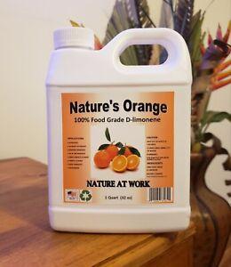 Natures Orange 100% Pure Food Grade D-Limonene (Orange Oil Citrus Extract)32floz