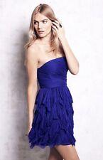 NEW Free People Special Edition royal blue Chiffon Petal Strapless Mini Dress 12