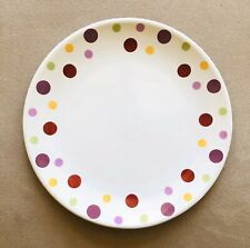 """PAMPERED CHEF Simple Additions Dots 8 1/4"""" Polka Dot Salad Or Dessert Plate EUC!"""
