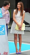 RARE! ZARA STARS DRESS CUT OUT CELEBRITY CROCHET EMBROIDERED LACE SIZE XS UK6