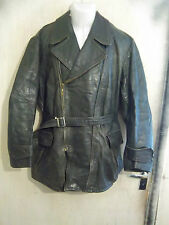VINTAGE WW2 GERMAN LUFTWAFFE HORSEHIDE LEATHER FLYING JACKET SIZE L ZIPP ZIPS