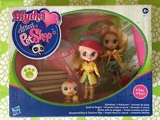 Littlest Pet Shop Blythe set Raindrops #B26 Doll - Flower Duck # 2167 New Set