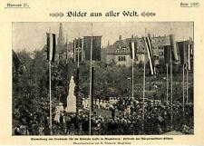 Einweihung des Denkmals f.d. Königin Luise in Magdeburg Festrede BG. Fischer1901